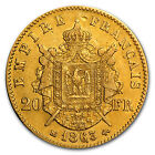 1852-1870 France 20 Francs Gold Napoleon III Coin - EF/AU