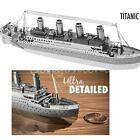 Metallic Steel Nano 3D Titanic Jigsaw Puzzle Model No Glue Toy Gift Decoration