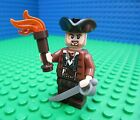 Lego Pirates of the Caribbean Pirate with Lantern Torch minifig sword minifigure