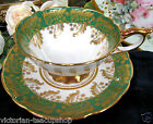 ROYAL STAFFORD  TEA CUP AND SAUCER SWIRLS OF GOLD GILT TEACUP