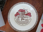 Vintage STRAWBERRY PIE RECIPE Baking Dish ROYAL CHINA Sebring Ohio -- Excellent!