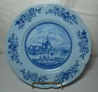 2 Blue on Blue Dutch Windmill Plates - Tulip Time, Johnson Brothers England
