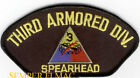 3RD ARMORED DIVISION SPEARHEAD US ARMY PATCH FORT TANK PIN UP ARTILLERY GIFT WOW