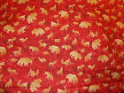 Red-Bear Elk Deer Coyote Moose-Fabric-Almost 5 Yards
