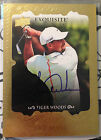 Tiger Woods 2014 UD Exquisite Golf Signature Masterpices GOLD on-card Auto - SP