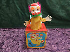 Vintage 1971 Mattel Talking Clown Tin Jack-in-the-Box.