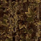 3 Yards Quilt Cotton Fabric - VIP Birch Forest Camouflage Leaves Wood