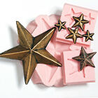 Star mold collection 3 flexible silicone moulds food safe craft soap wax 259