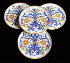 NEW SET OF 4 BIG  PLATES CLASSIC RICCO DERUTA  PATTERN , MADE IN ITALY