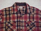 Old Vintage CPO CAMPUS Wool Blend Heavy Shirt / Jacket - Red Blue Tan Plaid NICE