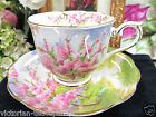 ROYAL ALBERT TEA CUP AND SAUCER  BLOSSOM TIME PATTERN TEACUP