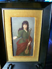Antique KPM Style Hand Painted Porcelain Plaque, Women and Music in Painting
