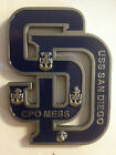 USS SAN DIEGO (LPD-22) CHALLENGE COIN, CPO COIN, NAVY CHIEF COIN, PADRES COIN!