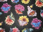New Elizabeth Studio Fabric Butterfly Garden Summer Flower Butterflies Name