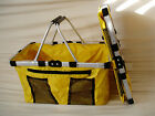 NWT collapsible Tote Basket w outside pocket Hot item