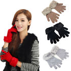 Women's Elegant Solid Colors Knit Fall & Winter Warmer Gloves Mittens ST277