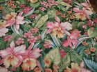 Older Cotton Fabric, Large Tropical Floral & Leaf Print, Quilting & Sewing BTY