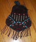 VINTAGE 1890s - 1920s HAND BEADED PURSE hand bag GLASS BEADS PARTS ONLY ESTATE