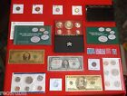 Junk Drawer Coin Lot Proof Dollar Mint Set Silver Certificate Gold plated = SEE
