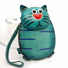 New Cute Genuine Leather Handmade Cat Money Coin Purse Wallet Kid Gift ZP12
