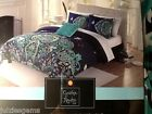 CYNTHIA ROWLEY TWIN XL MEDALLION Paisley TEAL LIME BLUE 3 PC COMFORTER SET