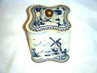 VINTAGE 1950'S HOLLAND DELFT TIN CONTAINER SAIL BOATS & WIND MILLS!