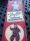 VINTAGE HAZELLE PLASTIC CLOWN STRING MARIONETTE PUPPET EXCELLENT USED CONDITION
