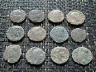 Lot of 12 Ancient Roman Bronze Uncleaned Coins Follis 3rd 4th Century AD / 20