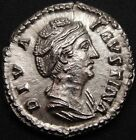 DIVA FAUSTINA & CERES Roman  Silver Ar Denarius Superb and rare CH UNC prooflike