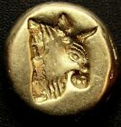 BULL & RAM Lesbos Mytilene Very rare Greek Gold Coin EL worth over $2.000 2.51g