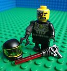 Lego Cyborg minifig Space Pirate Police Alien Conquest Minifigures 8803 Rare!