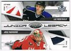 2010-11 CERTIFIED JUNIOR LEGACY AUTOGRAPH PATCH LUC ROBITAILLE JOSE THEODORE 5 5
