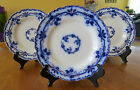 3 Lovely Antique Flow Blue Porcelain Plates Johnson Brothers England Oxford 7