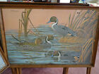 Vintage TV TRAYS or SNACK TABLES signed Mac Leod Duck Drake Print Tops set of 4