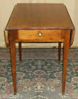 VINTAGE Mahogany Pembroke Style Scalloped Drop Leaf End/ Side Table With Drawer