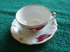 WINTERLING BAVARIA GERMANY  CHINA CUP AND SAUCER GOLD FLOWERS/PINK  DECORATION