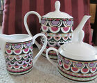 Stoneage Jewels Onyx Essence Teapot w/ Sugar Bowl & Creamer  NEW
