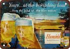 1955 Hamm's Beer Bewitching Vintage Look Reproduction Metal Sign