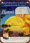 1959 Hamm's Beer Vintage Look Reproduction Metal Sign