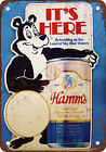 Hamm's Beer Bear Vintage Look Reproduction Metal Sign
