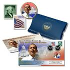Barack Obama Inauguration First Day Cover Colorized Coin Collection Set