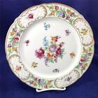 Schumann EMPRESS DRESDEN FLOWERS Dinner Plate Purple flower w/Yellow A+ Cond