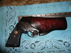 Colt Python Trooper SW 586 686 K L Frame Ruger GP100 4 Floral Leather Holster