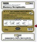 6 Pioneer 8-1/2x11 White Memory Book Refill Packs RW-85