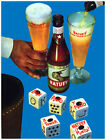 7659Cuban beerMan pouring beer into glassholds beerPOSTERart wall decor