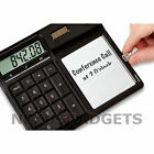 Magic Erasable Memo Note Pad Solar Powered Calculator Stylus Reusable Notepad fs