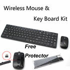 Black 2.4G Optical Wireless Keyboard and Mouse USB Receiver Kit For Laptop PC A