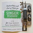 Vintage SINGER Buttonhole Attachment No. 121795 with Manual in Original Box