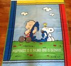 A CHARLIE BROWN - LINUS & SNOOPY PEANUTS DOOR / WALL HANGING COTTON FABRIC PANEL