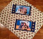 A PATRIOTIC 2 AMERICAN HERO PANEL'S AND USA BALD EAGLE FABRIC BY THE YARD